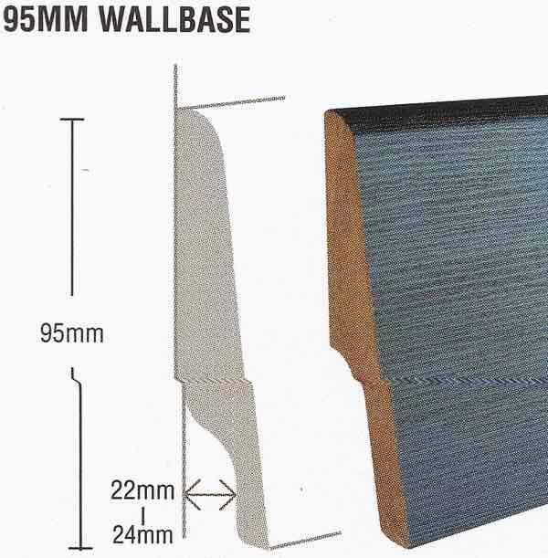 Skirting - 95mm (H) MDF Skirting, BATU DESIGN